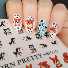 2 Patterns/Sheet BORN PRETTY Cute Dog Nail Art Water Decals Transfer Sticker BPY16(China)