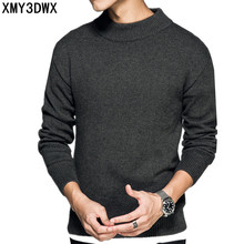 New 2017 style autumn/winte fashion Sweater round neck Men 's Long-Sleeved knitted sweaters and pullovers Casual solid color(China)