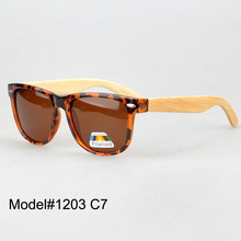 #1203 bamboo nature sunglasses polarized lens with spring hinge 8 color choice