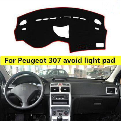 Car sticker For Peugeot 307 Dashboard Avoid Light Pad car interior Instrument Platform Cover Mat stickers auto accessories<br>