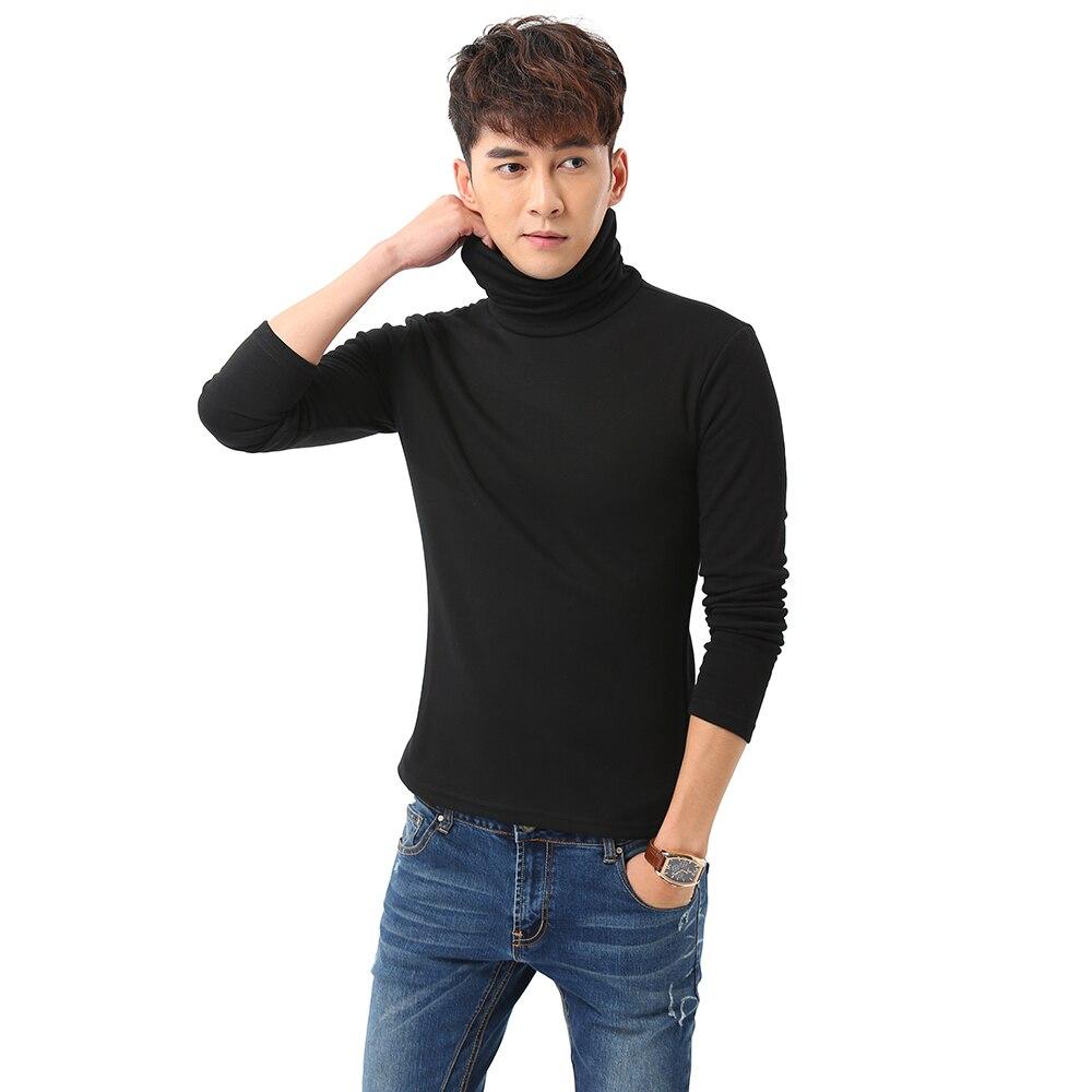 Black Turtleneck Sweater Men Pullovers Winter Thicken Underwear Mens Slim Fit Cotton Jumpers Male Turtle Neck camiseta Sweater Pull homme (3)