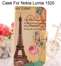 ABCTen Cell phone Cover Accessories Painting book Design Flip PU Leather Protective Skin Case For Nokia Lumia 1520 In stock