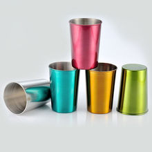 100pcs Colored stainless steel 150 ML/ 400ML Cups , Logo can be free engraved