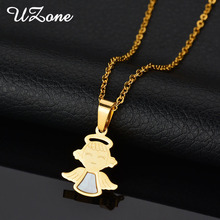 UZone Charms Boy & Girl Necklace Stainless Steel Angel Amulet Necklace Stainless Steel Necklace For Children