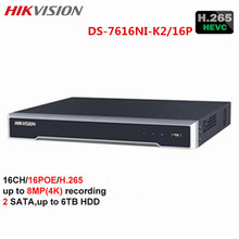 Buy Hikvision CCTV 16CH 4K NVR DS-7616NI-K2/16P H.265 16POE Network Video Recorder Onvif 2 SATA interfaces HDMI Surveillance NVR for $358.60 in AliExpress store