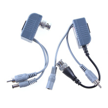 Transceivers CCTV CAT5 Balun Rj45 Video Power Balun Video Audio Power for Camera 1Pair LCC77(China)