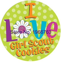 Free shipping 50pcs/lot i love girl scout cookies planar resin(China)