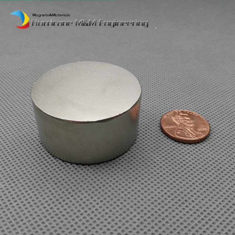 NdFeB Disc Magnet 1 1/2 dia.x3/4 thick Neodymium Permanent Magnets Grade N42 Rare Earth Super Strong Magnets, Filter Magnets<br>
