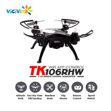 VICIVIYA TK106RHW Wifi FPV Quadcopter Elfie Drone with Camera HD 0.3MP Altitude Hold Waypoints G-sensor 4CH RC Helicopter Gyro(China)