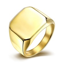 Gold & Silver Filed Smooth Mens Boys Mirror Polish Tone 316L Stainless Steel Ring Simple Elegant Egg Round Smooth Men Rings(China)