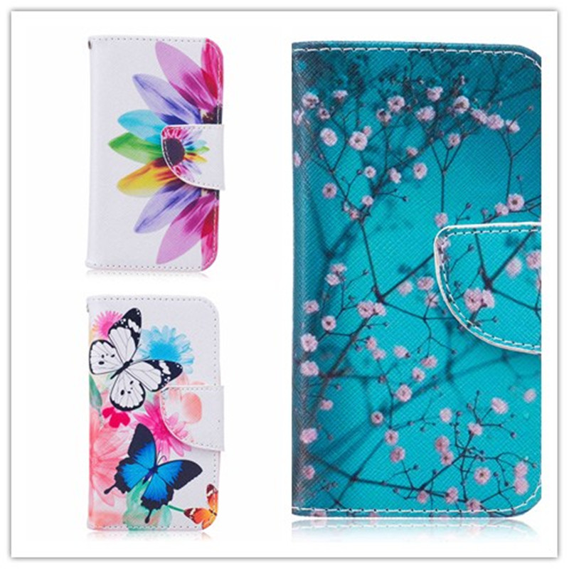 For Samsung Galaxy J1 Mini NXT 2016 J105 4.0″ Colorful Flip Stand PU Leather Phone Cover Fashion Pattern Magnetic Wallet