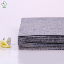 Solid Grey Color Felt 100% Polyester Nonwoven Pure Color Fabric For Sewing Felt Crafts Cloth 30X30CM 1MM Thick