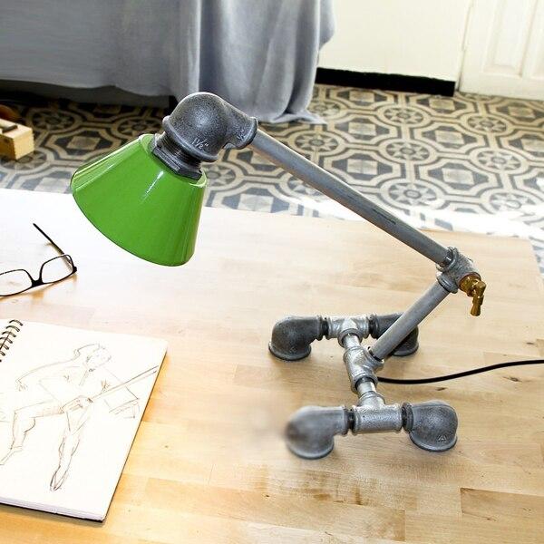 Loft Vintage Nostalgic Lustre Water Pipe Edison Table Lamp Industrial Personality Children Bedroom Bedside  Home Decor Lighting<br><br>Aliexpress