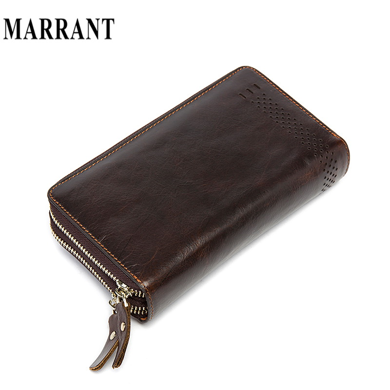 MARRANT Genuine Leather Men Wallet Long Design Vintage Luxury Male Purse Wallet Fashion Clutch Cash Money Bill Phone Card Clip<br><br>Aliexpress