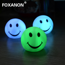 Color Changing LED Smiling face Romantic Love Mood Lamp Night Light,Seven Color Changing holiday light nightlight 1pcs/lot