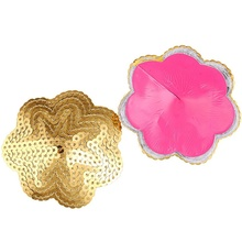 Buy Women 1X Pair Sexy Sequin Floral Shape Silicon Intimate Bra Nipple Cover Pasties Breast Petals T9