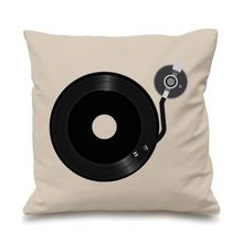 Novelty DJ Turntable Decks Cushion Cover Techno Throw Pillow Case Music Hip Hop Gifts Funny Music Sofa Home Decor Two Sides 18""