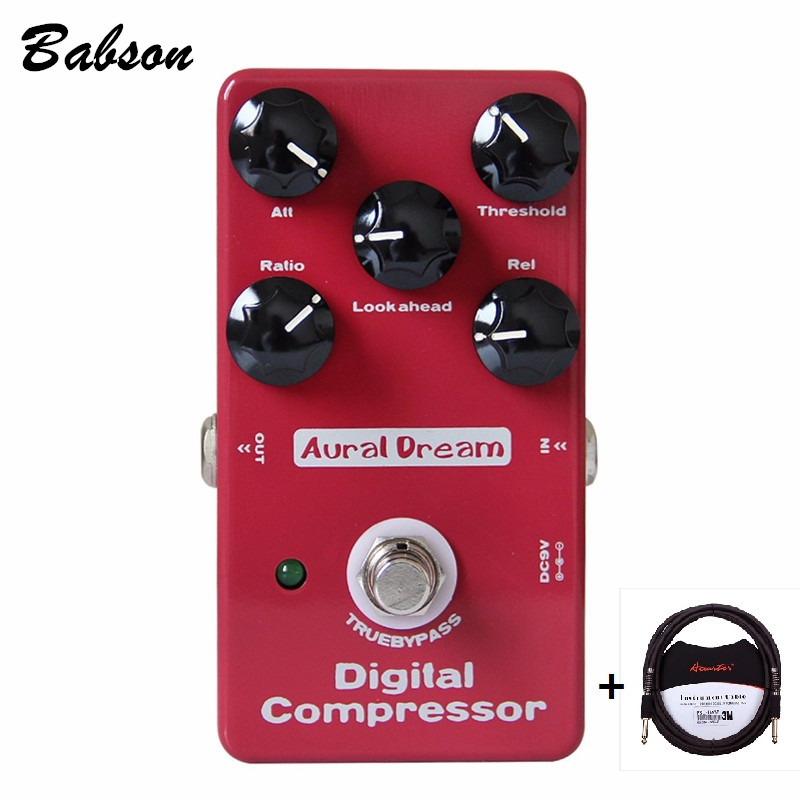 Aural Dream Digital Compressor True Bypass Effect Pedal for Electric Guitar with 3m Guitar cable<br>