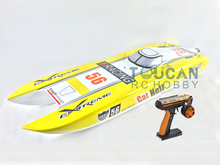 100KM/H 2.4G 6S 120A ESC E51 Electric Brushless RC Racing Boat Dual Motor RTR Ready To Run Yellow W/Remote Control