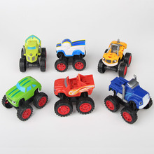 6pec/lot Russia miracle cars Blaze Toys Vehicle Car Transformation Toys With Original Box Best Gifts