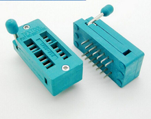 2pcs 14 Pin Universal ZIF DIP Tester IC Test Socket Narrow
