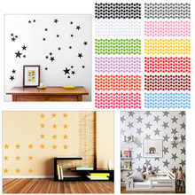 Fashion 12 Colors Stars Wall Stickers Kids Baby Room,DIY Wall Art Home Decor Sticker #87379(China)