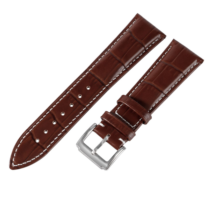 18mm 20mm 22mm Watchband High Quality Cow Brown Embossed Genuine Leather 3 Colors Available Soft Luxury Strap Men Women<br><br>Aliexpress