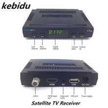 Kebidu Freesat V7 1080P FULL HD DV Satellite TV Receiver USB Wfi RT5370 PAL/NTSC Digital Television Decoder For Europe Only(China)