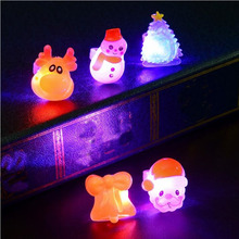 Christmas Cartoon LED Flashing Rings Light Up Glowing Finger Ring Kids Children Christmas Party Toys Gifts(China)