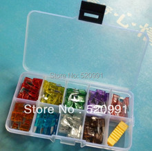 New 45PCS  MINI Blade Fuse Assortment Auto Car Motorcycle SUV FUSES Kit APM ATM 5A,7.5A,10A,15A,20A,25A,30A,35A,40A