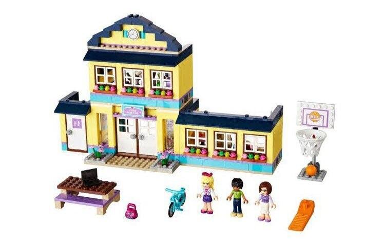 New Original 10166 BELA Girls Friends HeartLake City School Building Block Sets 489pcs Assemble Bricks toys Compatible<br><br>Aliexpress
