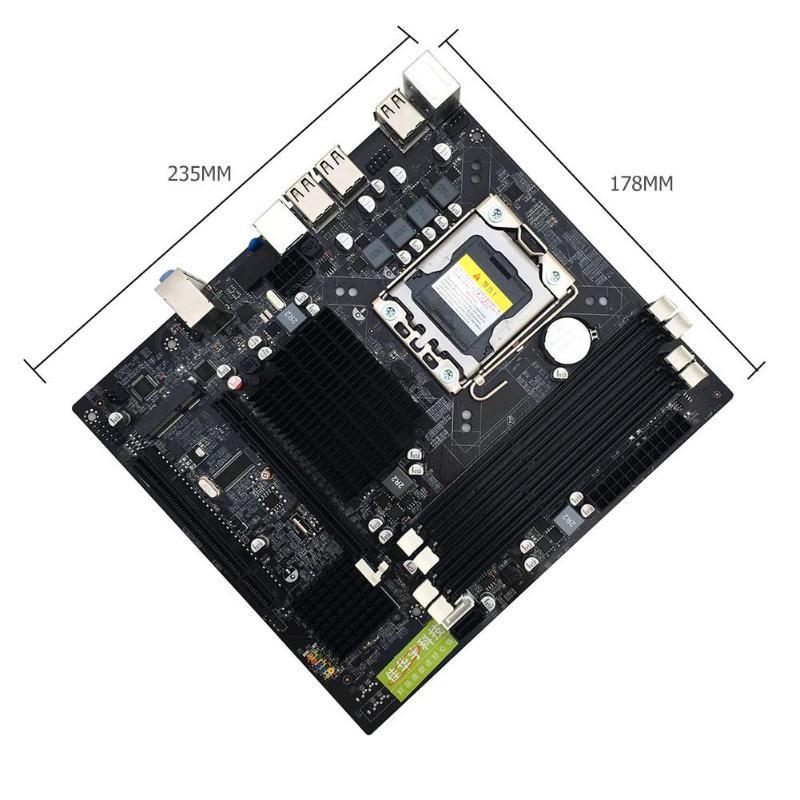 Интернет магазин товары для всей семьи HTB1RdgwajLuK1Rjy0Fhq6xpdFXa0 X58 рабочего Материнская плата LGA 1366Pin DDR3 компьютер материнская плата для L/E5520 X5650 RECC для Intel Core i7 M-SATA 1333 МГц