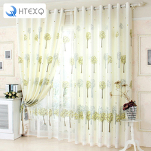 Brand New free shipping floral print curtains drapes insulated window shades living room curtains in curtains voile curtain