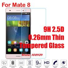 Best Cheap Ultra Thin 9H Hardness Hard 2.5D 0.26mm Phone Accessories Mobile Glass Screen Protector For Huawei Ascend Mate 8