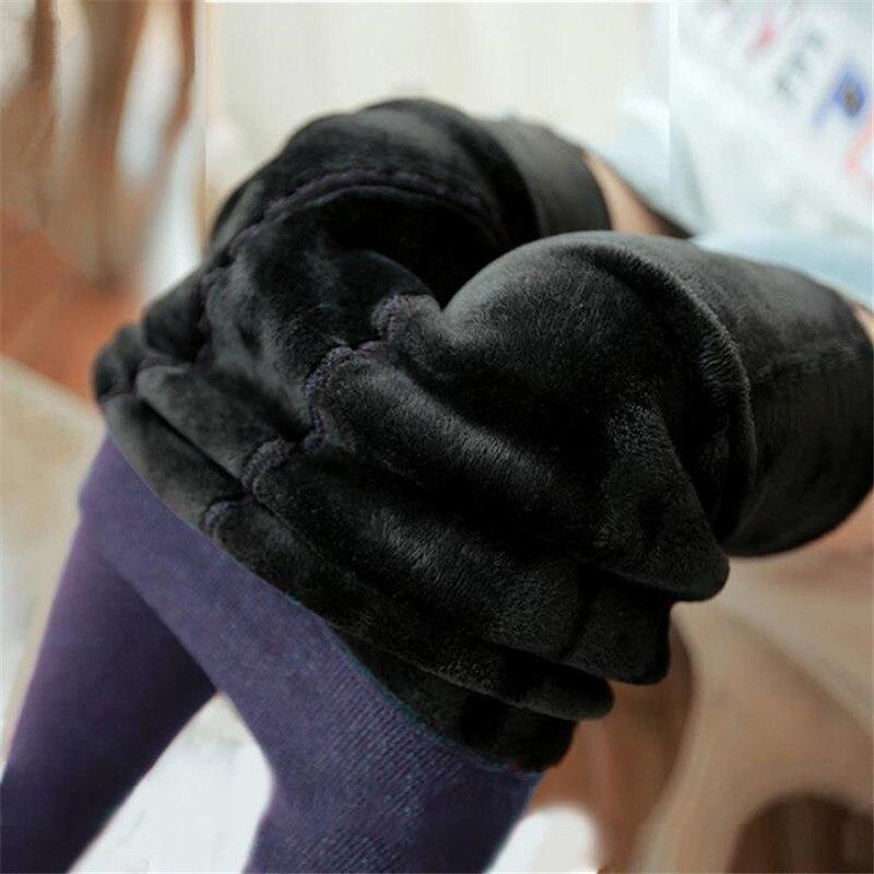 Women Warm Fleece Velvet thermal Shine Synethic Leather Winter Pants Leggings