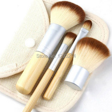 1set/4Pcs Bamboo Elaborate Powder Blending Eyeshadow Makeup Brushes Professional Cosmetic Make Up Brush Set Best Quality! pa3G