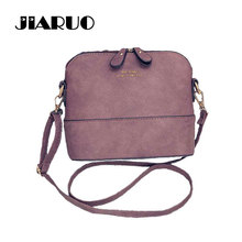 JIARUO Korean Retro Suede Bag Leather Women Small Shell Do Old Messenger Bag CrossBody Bag Lady Handbag Causal Travel Clutch()