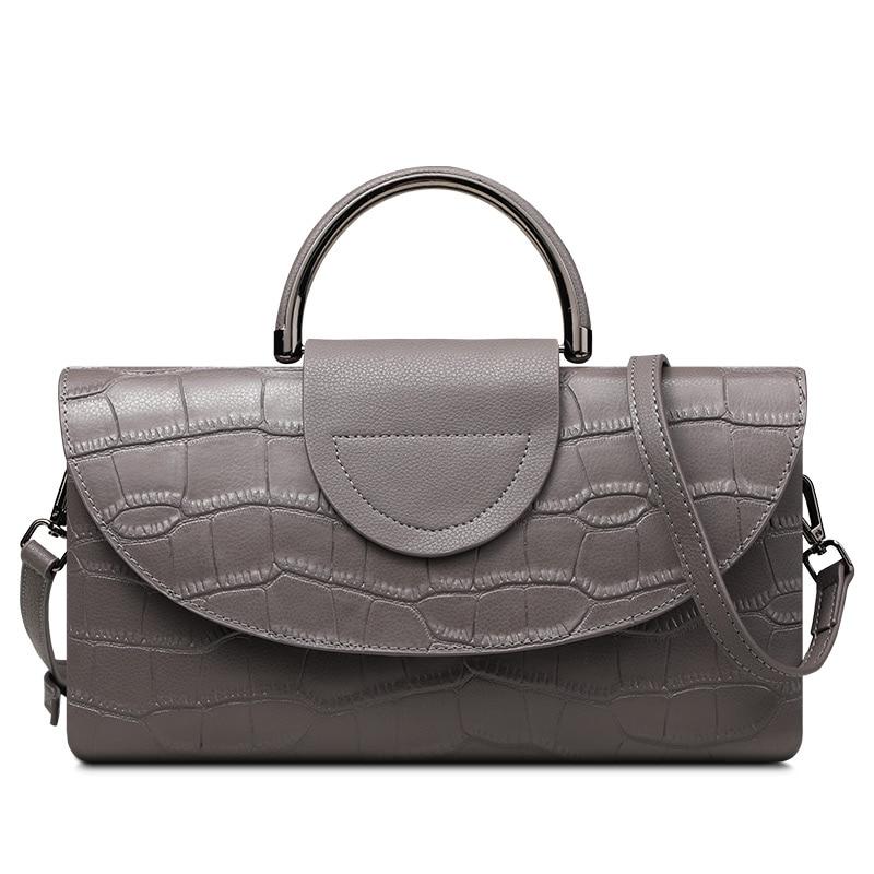 2017 New Crocodile Pattern Multi-function Handbag Female Split Leather Shoulder Bags Evening Clutch Bags Womens Coin Purses<br>