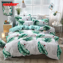 Sisher Plant Printing Duvet Cover set King Size cotton with Pillowcase Quilt Covers sets Single Double Queen Bedclothes for kids(China)