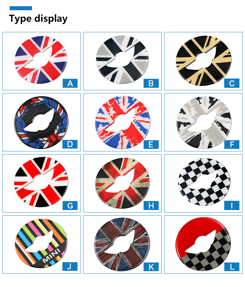 3D Car Steering Wheel Center Stickers Covers Interior Decorations for MINI Cooper JCW F55 F56 Accessories Car Styling (2)