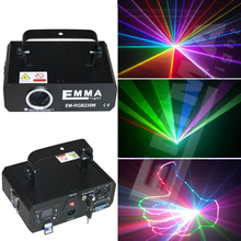3d rgb laser 1w dj lights dmx+ilda+sd+2d+3d multi color 1w rgb laser(China)