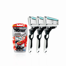 3 Pcs/lot Original DORCO Pace 6 Blades Razor for Men Shaver Razor Men Shaving Personal Stainless Steel Safety Razor Blades