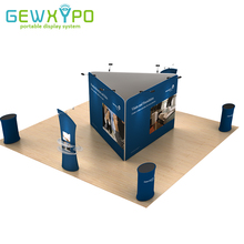 6m*6m Exhibition Booth Size Portable Aluminum Stand With Tension Fabric Banner Printing,Trade Show Advertising Display Structure