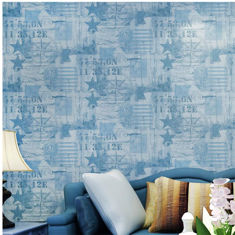 beibehang Living Room Restaurant Backdrop Wallpaper American Village Vintage Obscure Wallpaper Bedroom Full House papel de pared<br>