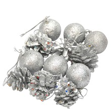 12pcs Wedding Party Festival Christmas Pin Cones Baubles XMAS Tree Wreaths Decor Ornament Hanging