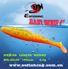"Easy Shiner Shad 4"" Pesca Fishing Lure Soft Bait 6pcs 10cm/9.5g Esfishing Hot Fishing Accessories Bass Carp Iscas Mepps Jig"