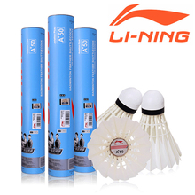 High-quality Original Li Ning Shuttlecock A+50 Badminton Bird Shuttle Birdie Speed 74 75 76