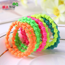 100pcs/lot Wholesale Super great elasticity Slub pattern Hair accessories for girls kids rubber bands