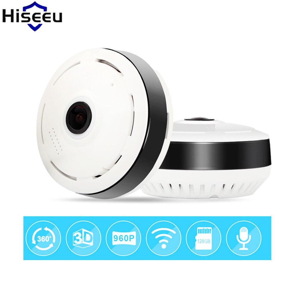 Hiseeu Security Camera Mini Ip Camera HD 1.3 Megapixels 360 Degree Full View Endoscope WiFi FishEye Night Vision Dropshipping<br>