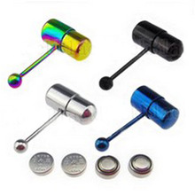 1 Pc Special Design Vibrating Tongue Piercing 1.2*17mm Barbell Stainless Steel Tongue Rings Body Jewelry Hot Selling Apparel
